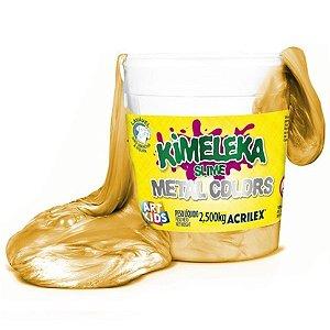 Kimeleka Slime Metalica Balde 2,5 Kg Dourado Acrilex 05835