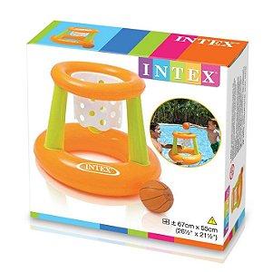 Brinquedo Cesta de Basquete Inflavel Flutuante Intex 58504
