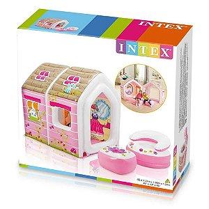 Brinquedo Casinha de Princesa Rosa Inflavel Intex 48635