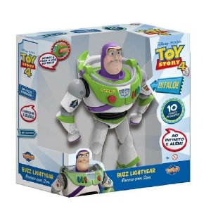 Boneco Buzz Lightyear 25cm Com Sons Toy Story 4 Toyng 038169