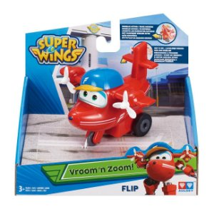 Brinquedo Super Wings Vroom n Zoom Aviao Flip Fun 80140