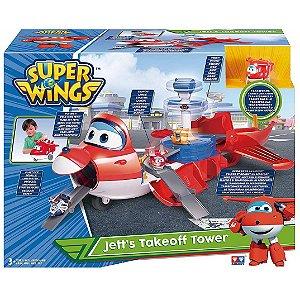 Super Wings Playset Torre de Decolagem do Jett Fun 83417