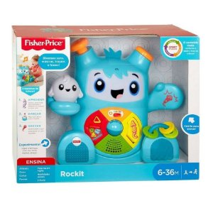 Rockit Interativo com Sons e Luzes 6-36m Fisher Price Fxc99