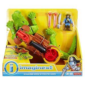 Novo Imaginext Crocodilo e Capitao Gancho Fisher Price Dhh63