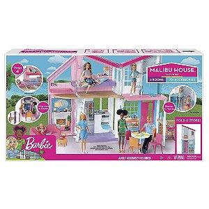 Brinquedo Barbie Casa Malibu com Acessorios Mattel Fxg57