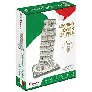Quebra cabeça 3D Torre de Pisa Puzzle com 27 peças C241h