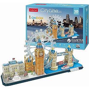 Quebra cabeça 3D Puzzle City Line Cidade de Londres MC253h