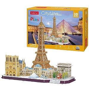 Quebra cabeça 3D Puzzle City Line Cidade de Paris MC254h
