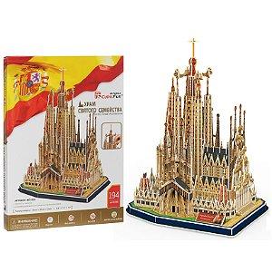Quebra cabeça 3D Puzzle Sagrada Familia com 184 peças MC153h