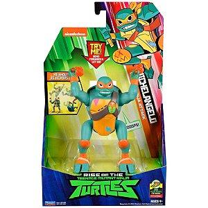 Figura de Luxo Tartarugas Ninjas Michelangelo com Som 2041