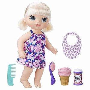 Brinquedo Boneca Baby Alive Sobremesa Magica Loira C1090