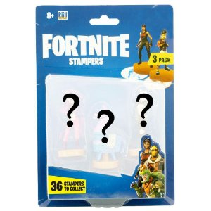 Pack com 3 Figuras Surpresas Carimbos Fortnite Sunny 2063