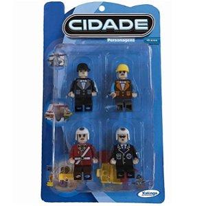 Brinquedo Blocos de Montar Personagens Cidade Xalingo 11898