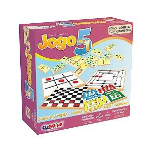 Jogo De Tabuleiro 5 x 1 Caixa Cartonada CiaBrink 1404