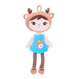 Brinquedo Boneca Jimbao Deer Azul Bup Baby Pelucia Metoo