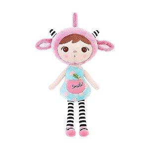 Brinquedo Boneca Jimbao Duende Sorriso Rosa Pelucia Metoo