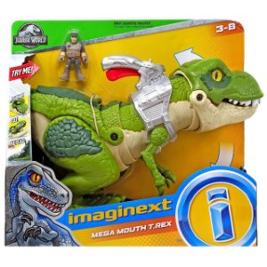 Imaginext Dinossauro T-Rex Mordida Feroz Fisher Price Gbn14