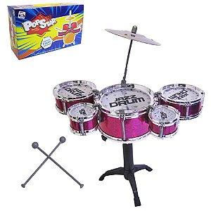 Brinquedo Infantil Bateria Musical Completa Pica Pau 3661