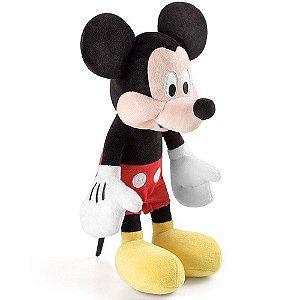 Brinquedo Pelucia Disney com Som Mickey Multikids BR332
