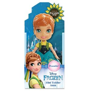 Boneca Mini Toddler Anna Frozen Fever Disney Sunny 1262