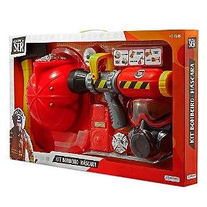 Brincando de Ser Kit Bombeiro Mascara de Oxigenio BR962