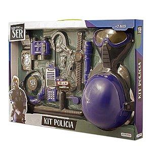 Brincando de Ser Kit Policia com Capacete Multikids BR965