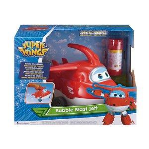 Brinquedo Super Wings Jett Explosao de Bolhas Fun 84350