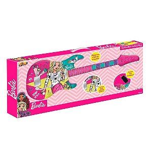 Brinquedo Guitarra Fabulosa MP3 Player Barbie Fun 80069