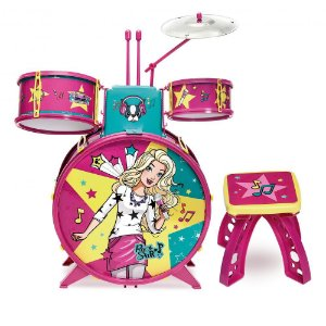 Brinquedo Musical Bateria Infantil Fabulosa Barbie Fun 72931
