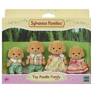 Brinquedo Sylvanian Families Familia dos Poodles Toy 5259