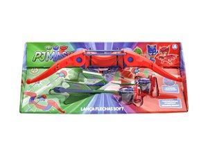 Brinquedo Lança Flechas Pj Masks Soft Shot Dtc 4489