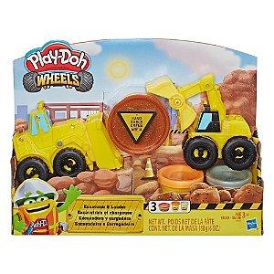Brinquedo Play Doh Wheels Escavadeira e Carregadeira E4294