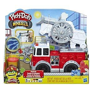 Brinquedo Play Doh Wheels Carro de Bombeiro Hasbro E6103