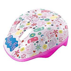 Capacete Infantil Ajustável Rosa Peppa Pig Dtc 4604
