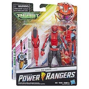 Boneco Power Rangers Beast Morphers Ranger Vermelho E5915