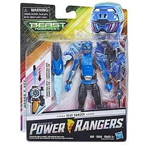 Boneco Power Rangers Beast Morphers Ranger Azul Hasbro E5915