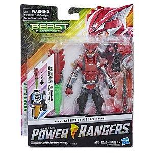 Boneco Power Rangers Beast Morphers Cyber Vilao Blaze E5915