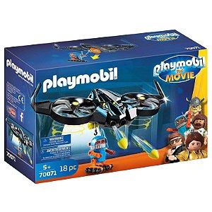 Brinquedo Playmobil O Filme Robotitron com Drone Sunny 70071
