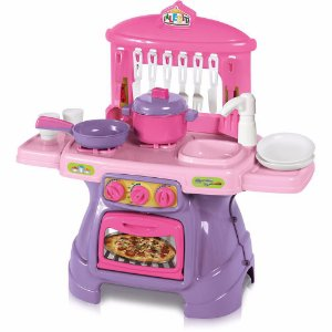 Brinquedo Cozinha Mini Chef Rosa Com Água Calesita  0317