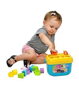 Blocos De Encaixe Baldinho de Formas Mundo Bita Yes Toys