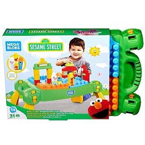 Brinquedo Vila Sesamo Mesa de Atividades Mega Blocks Fwf03