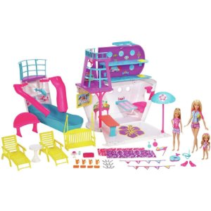 Boneca Barbie Conjunto Viagem no Navio Cruzeiro Mattel Fhw46