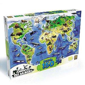 Quebra Cabeça Animais do Mundo Puzzle 150 peças Grow 03108
