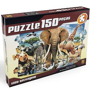 Quebra Cabeça Vida Selvagem Puzzle 150 peças Grow 02887