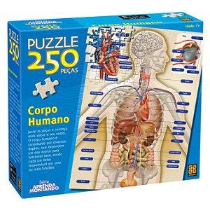 Quebra Cabeça O Corpo Humano Puzzle 250 peças Grow 02443
