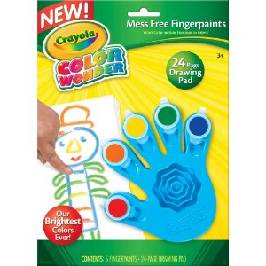 Brinquedo Color Wonder Pintura a Dedo 5 Cores Crayola