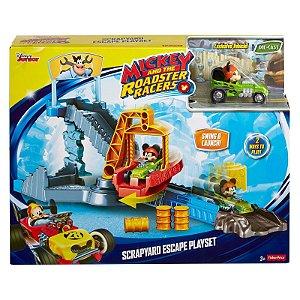 Brinquedo Pista e Veículo Mickey Fuga do Ferro Velho Fpj55