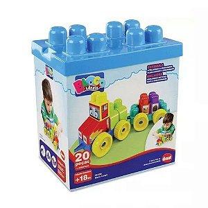 Brinquedo Infantil Bloco Cargo 20 Peças Dismat 2069