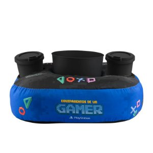 Almofada Porta Pipoca e Copo Playstation Pixel Gamer 23818