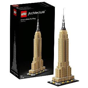 Lego Architecture Empire State Building Usa 1767 peças 21046